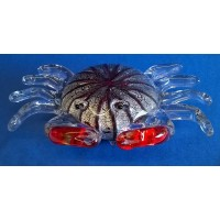 JULIANA OBJETS D'ART ART GLASS CRAB