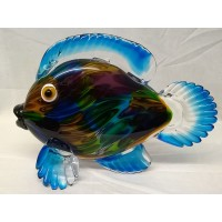 JULIANA OBJETS D'ART ART GLASS FISH – LARGE MULTICOLOURED