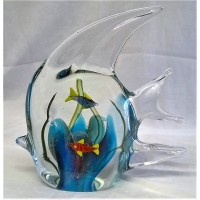 JULIANA OBJETS D'ART ART GLASS ANGEL FISH 60337A