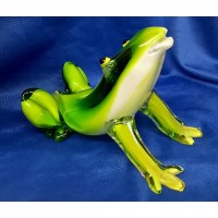JULIANA OBJETS D'ART ART GLASS FROG