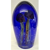 JULIANA OBJETS D'ART ART GLASS JELLYFISH DOME PAPERWEIGHT – EXTRA LARGE SIZE 60230B