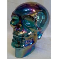 JULIANA OBJETS D'ART ART GLASS SKULL – RAINBOW SHIMMER LUSTRE