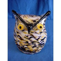 JULIANA OBJETS D'ART ART GLASS OWL PAPERWEIGHT