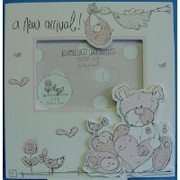 POLKA DOT & CO NEW BABY GIRL PICTURE FRAME
