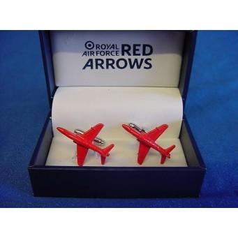 WILLIAM WIDDOP RAF CUFFLINKS SET - RED ARROWS