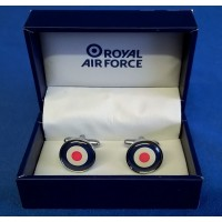 WILLIAM WIDDOP RAF CUFFLINKS SET - RAF ROUNDEL