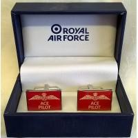 WILLIAM WIDDOP RAF CUFFLINKS SET – ACE PILOT