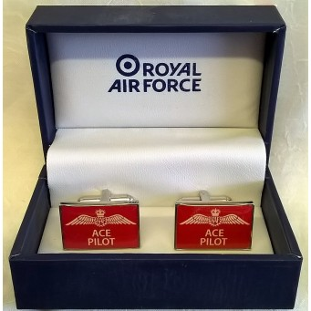 WILLIAM WIDDOP RAF CUFFLINKS SET – ACE PILOT