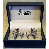 WILLIAM WIDDOP RAF CUFFLINKS SET - LANCASTER BOMBER