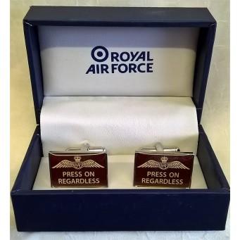 WILLIAM WIDDOP RAF CUFFLINKS SET - PRESS ON REGARDLESS