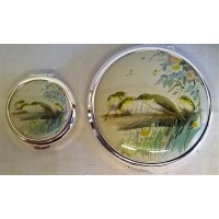 STRATTON COUNTRY DIARY OF AN EDWARDIAN LADY PILL BOX & MIRROR COMPACT GIFT SET