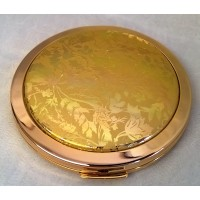 STRATTON LORELEI GILT DUAL MIRROR COMPACT