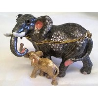 JULIANA TREASURED TRINKETS ELEPHANT TRINKET BOX