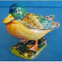 JULIANA TREASURED TRINKETS MALLARD DUCK TRINKET BOX