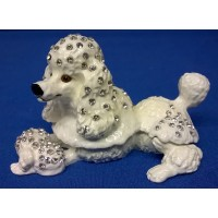 JULIANA TREASURED TRINKETS POODLE DOG TRINKET BOX