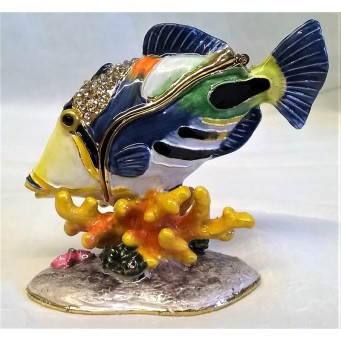 JULIANA TREASURED TRINKETS HUMA HUMA TRIGGERFISH TRINKET BOX