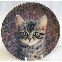 ROYAL WORCESTER IVORY CATS COLLECTION – ZELINA AND THE GRAPEVINE TRINKET DISH