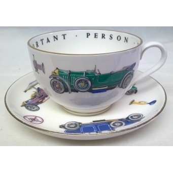 ROYAL WORCESTER VIP CUP & SAUCER – VINTAGE MOTORCARS