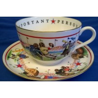 ROYAL WORCESTER VIP CUP & SAUCER – AMERICAN FOOTBALL