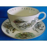 ROYAL WORCESTER VIP CUP & SAUCER – FISHING