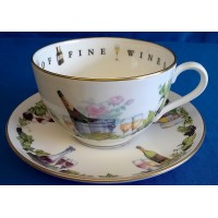 ROYAL WORCESTER VIP CUP & SAUCER – CONNOISSEUR OF FINE WINES