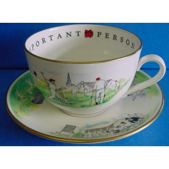 ROYAL WORCESTER VIP CUP & SAUCER – CRICKET