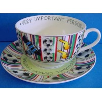ROYAL WORCESTER VIP CUP & SAUCER – FOOTBALL CRAZY