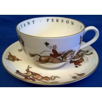 ROYAL WORCESTER VIP CUP & SAUCER – FOXHUNTING