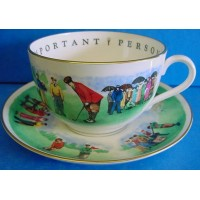 ROYAL WORCESTER VIP CUP & SAUCER – GOLF - CLASSIC GOLFERS
