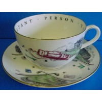 ROYAL WORCESTER VIP CUP & SAUCER – GOLF - FAMOUS GOLF CLUBS