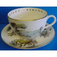 ROYAL WORCESTER VIP CUP & SAUCER – HUNTING GAME BIRDS