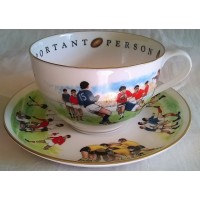 ROYAL WORCESTER VIP CUP & SAUCER – RUGBY