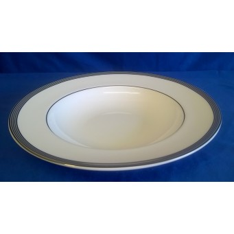 ROYAL WORCESTER CELLO PLATINUM SOUP PLATE OR RIMMED BOWL