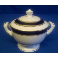 ROYAL WORCESTER HOWARD BLUE COVERED SUGAR BOWL