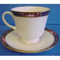 ROYAL WORCESTER PRINCE REGENT TEACUP & SAUCER