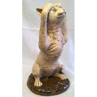 MOORCROFT COBRIDGE STONEWARE KERFUFFLE CAT FIGURE