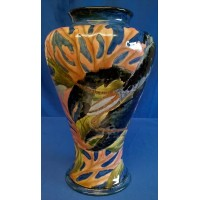 MOORCROFT COBRIDGE STONEWARE LOBSTER DESIGN VASE