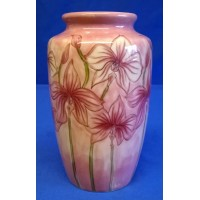 MOORCROFT COBRIDGE STONEWARE SAMANTHA JOHNSON PINK ORCHID DESIGN TRIAL VASE