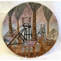 MOORCROFT COBRIDGE STONEWARE YEAR WALL DISPLAY PLATE – 1999 SNEYD COLLIERY