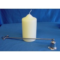 CULINARY CONCEPTS EQUESTRIAN THEMED SILVER PLATED CANDLE SNUFFER