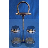 CULINARY CONCEPTS EQUESTRIAN THEMED SILVER PLATED CRUET SET - MID SEASON SALE – 30% OFF – WAS £49.99