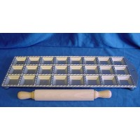 EPPICOTISPAI 47mm SQUARE RAVIOLI MAKER & ROLLING PIN SET