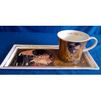 GOEBEL GUSTAV KLIMT LIMITED EDITION COFFEE SET - THE KISS