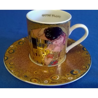 GOEBEL GUSTAV KLIMT DEMITASSE CUP & SAUCER – THE KISS