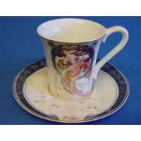 GOEBEL ALPHONSE MUCHA DEMITASSE CUP & SAUCER - THE DANCE