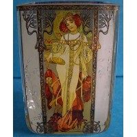 GOEBEL ALPHONSE MUCHA FOUR SEASONS TEA LIGHT 8532 AUTUMN