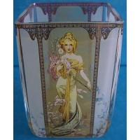 GOEBEL ALPHONSE MUCHA FOUR SEASONS TEA LIGHT CANDLE HOLDER - 8516 SPRING