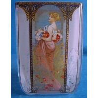 GOEBEL ALPHONSE MUCHA FOUR SEASONS TEA LIGHT CANDLE HOLDER - 8524 SUMMER