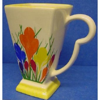 MOORLAND POTTERY ART DECO CROCUS PATTERN MUG