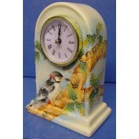 OLD TUPTON WARE WOODPECKER MANTEL CLOCK
